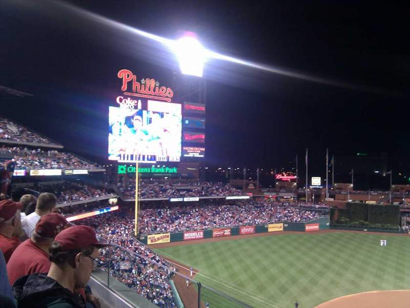 Seating view for Citizens Bank Park Section 324 Row 2 Seat 11