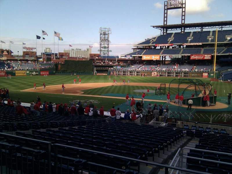 Seating view for Citizens Bank Park Section 127 Row 23 Seat 8