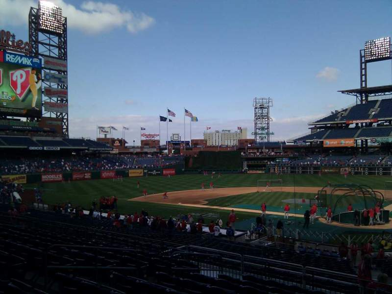 Seating view for Citizens Bank Park Section 126 Row 30 Seat 5