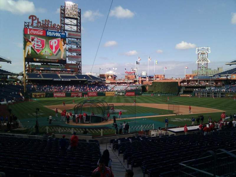 Seating view for Citizens Bank Park Section 122 Row 27 Seat 2