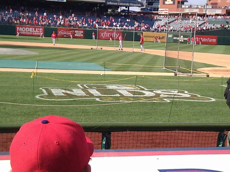 Seating view for Citizens Bank Park Section 117 Row 2 Seat 15