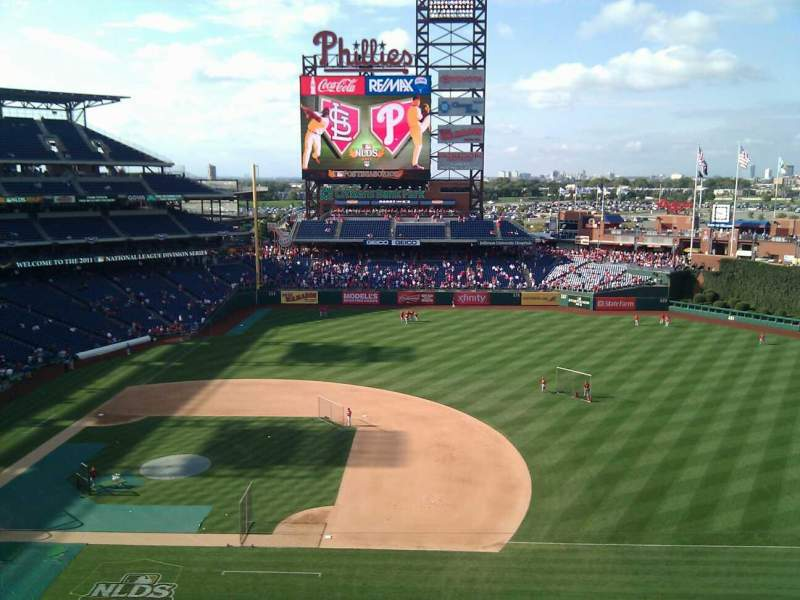 Seating view for Citizens Bank Park Section 314 Row 4 Seat 19