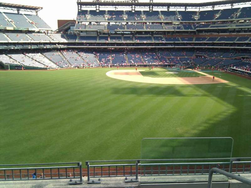 Seating view for Citizens Bank Park Section 244 Row 4 Seat 1