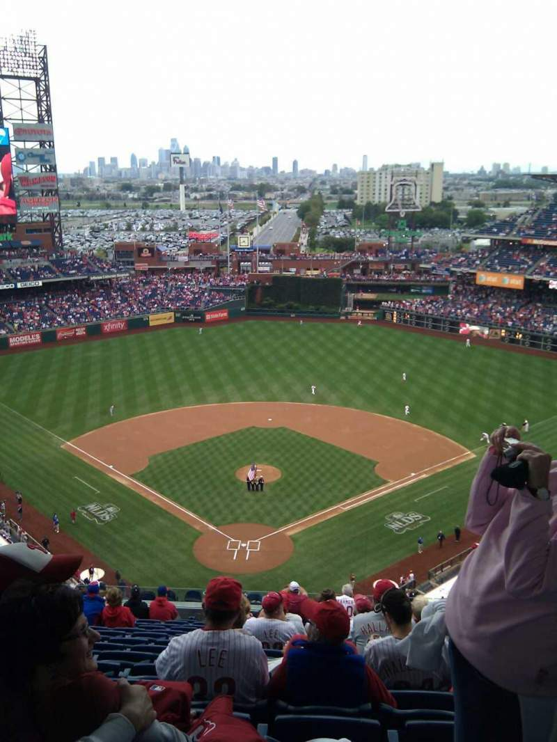 Seating view for Citizens Bank Park Section 420 Row 15 Seat 11