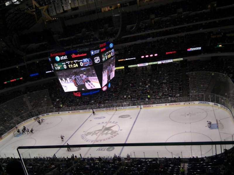 Seating view for American Airlines Center Section 324 Row g Seat 15
