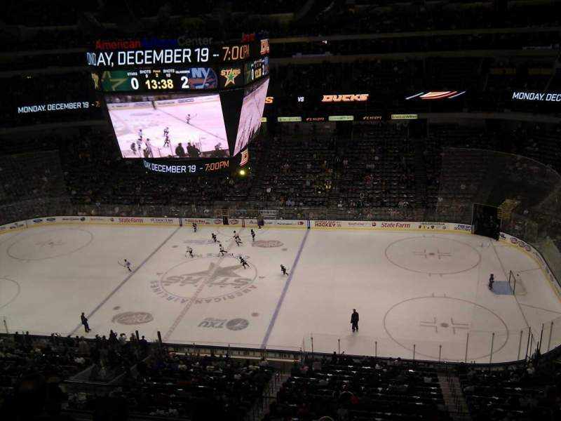 Seating view for American Airlines Center Section 325 Row d Seat 7