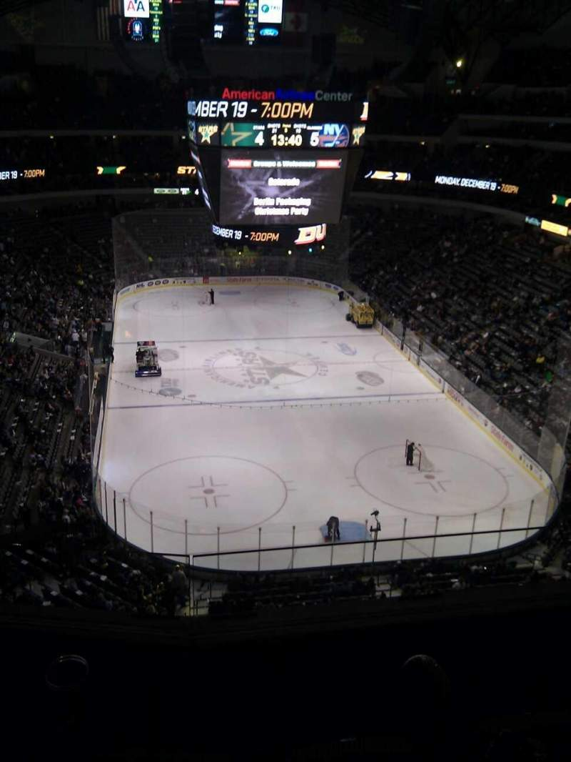 Seating view for American Airlines Center Section 319 Row c Seat 8