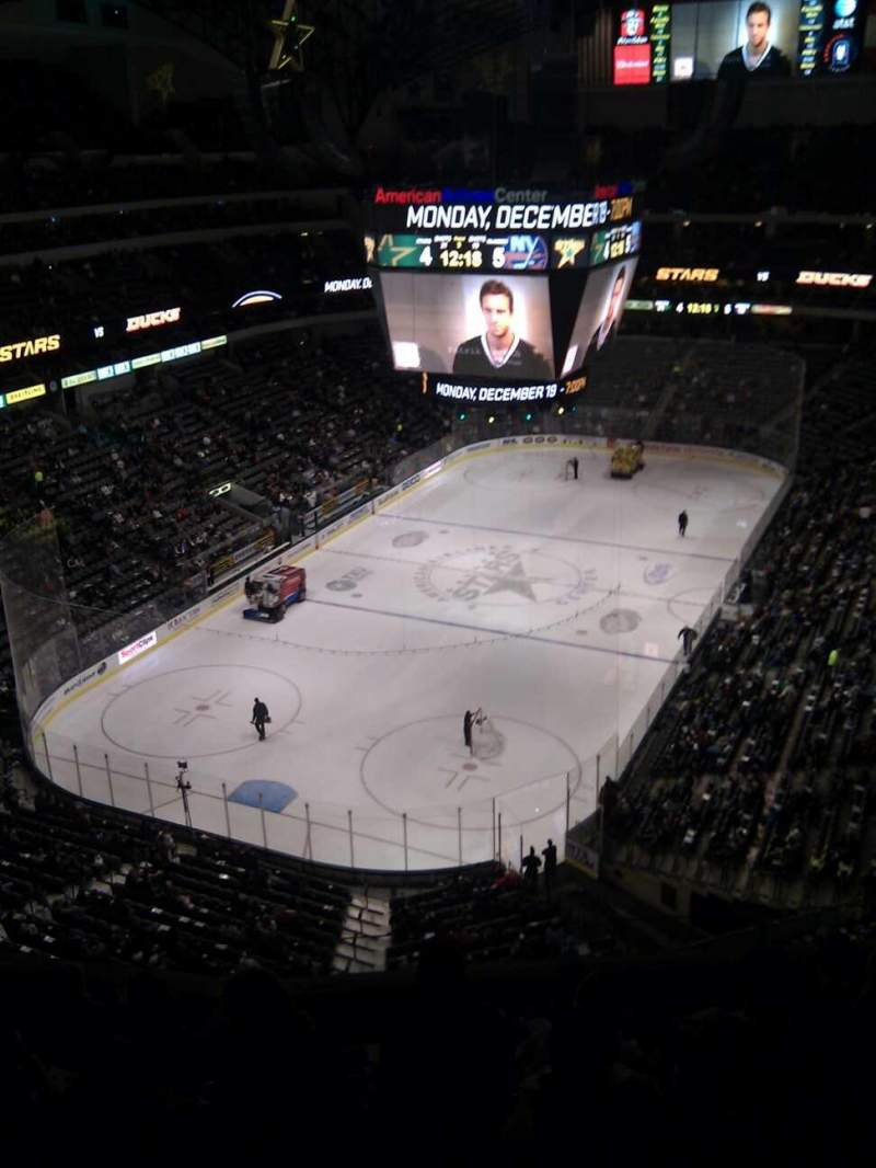 Seating view for American Airlines Center Section 316 Row g Seat 6