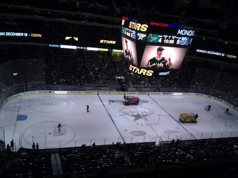 Seating view for American Airlines Center Section 312 Row e Seat 3