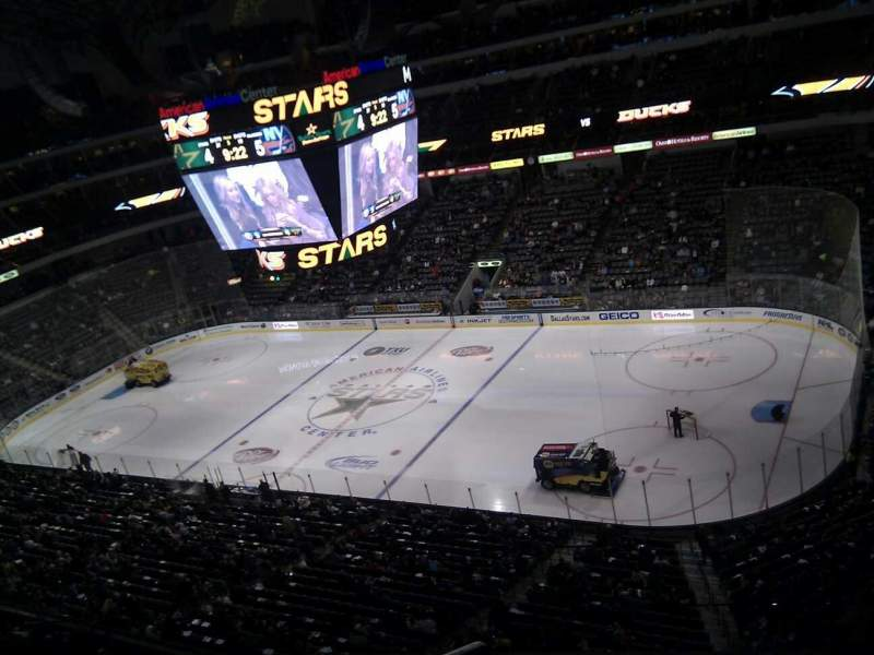 Seating view for American Airlines Center Section 306 Row d Seat 15