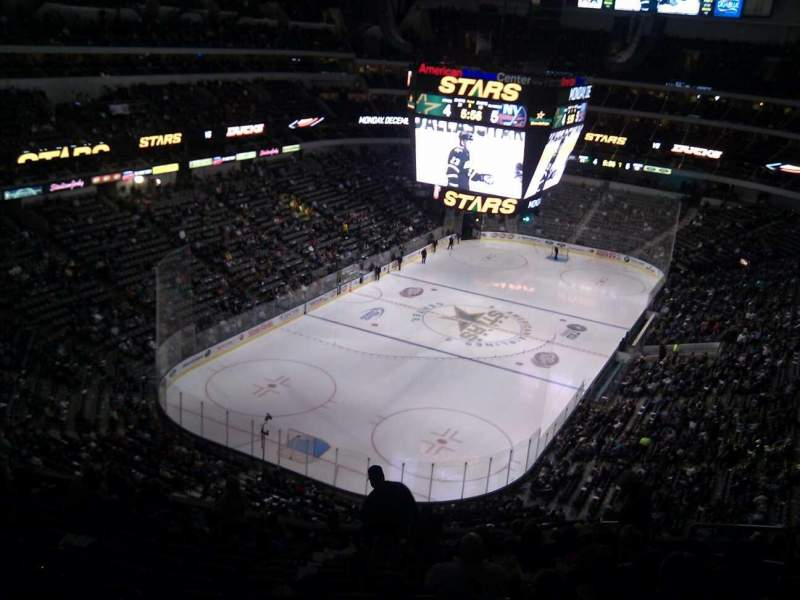 Seating view for American Airlines Center Section 333 Row h Seat 7