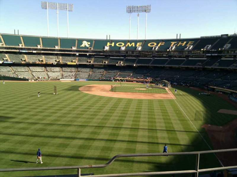Seating view for Oakland Alameda Coliseum Section 233 Row 4 Seat 10
