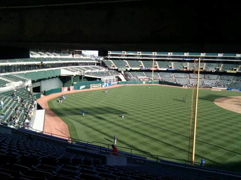 Seating view for Oakland Alameda Coliseum Section 231 Row 18 Seat 18