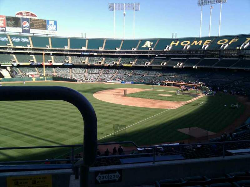 Seating view for Oakland Alameda Coliseum Section 230 Row 6 Seat 6