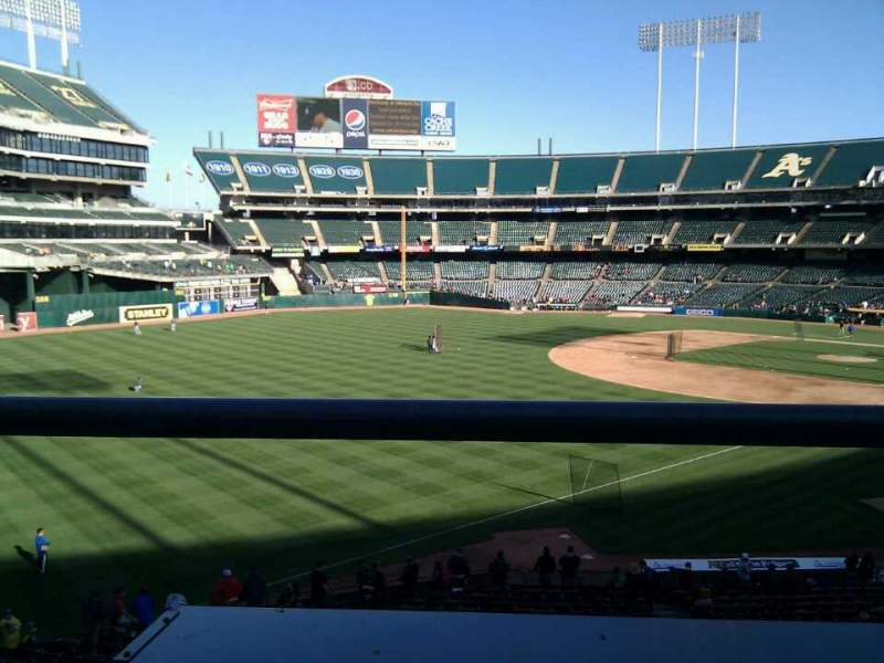 Seating view for Oakland Alameda Coliseum Section 229 Row 1 Seat 16