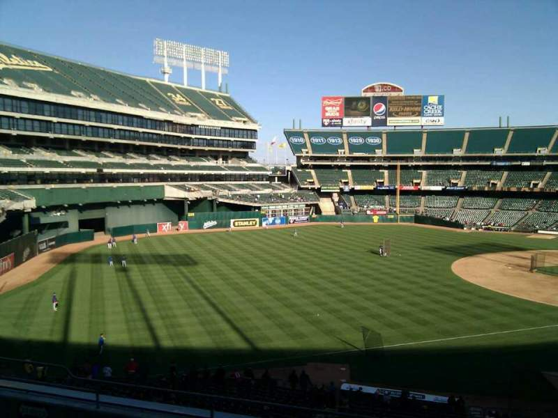 Seating view for Oakland Alameda Coliseum Section 228 Row 8 Seat 12