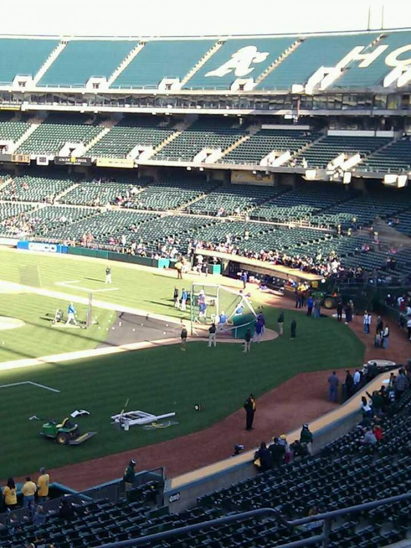 Seating view for Oakland Alameda Coliseum Section 225 Row 7 Seat 9