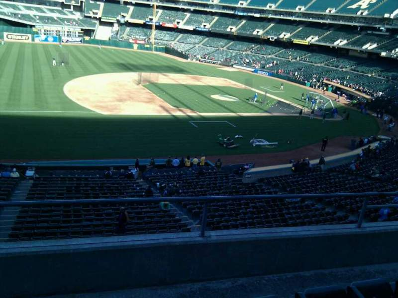 Seating view for Oakland Alameda Coliseum Section 224 Row 4 Seat 17