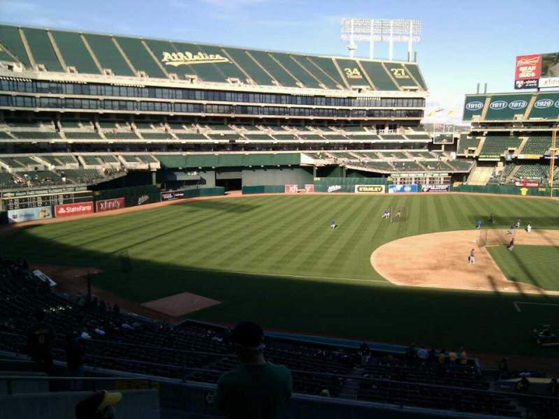 Seating view for Oakland Alameda Coliseum Section 223 Row 10 Seat 18