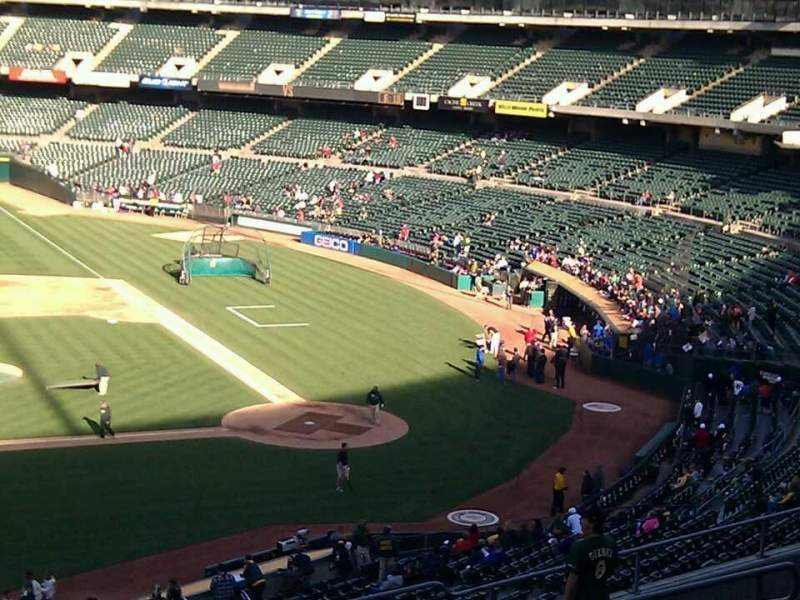 Seating view for Oakland Alameda Coliseum Section 222 Row 12 Seat 15