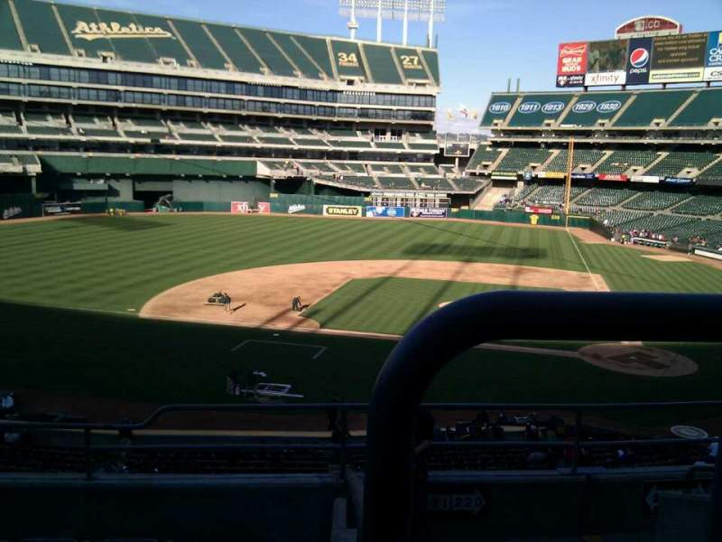 Seating view for Oakland Alameda Coliseum Section 221 Row 6 Seat 5