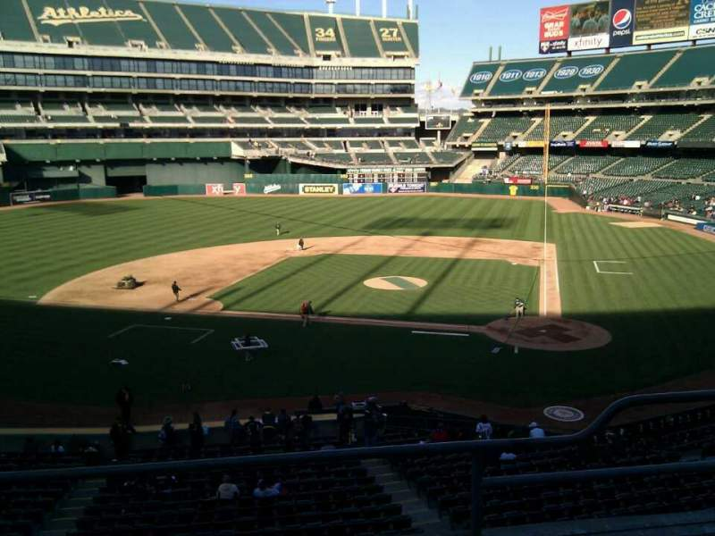 Seating view for Oakland Alameda Coliseum Section 220 Row 3 Seat 12