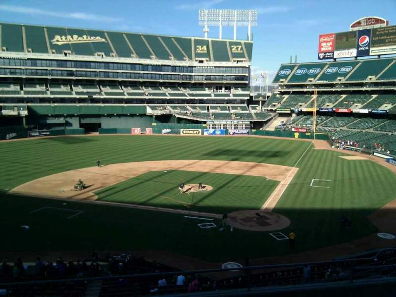 Seating view for Oakland Alameda Coliseum Section 219 Row 7 Seat 18