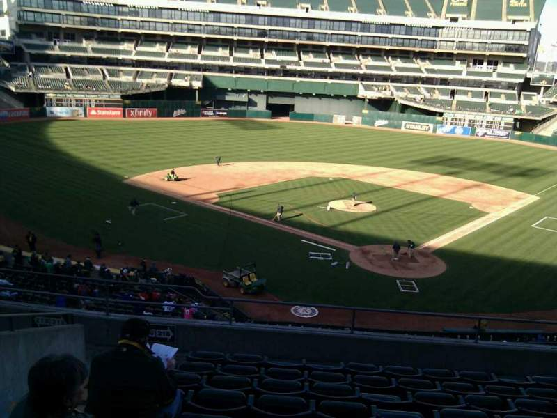 Seating view for Oakland Alameda Coliseum Section 218 Row 9 Seat 20