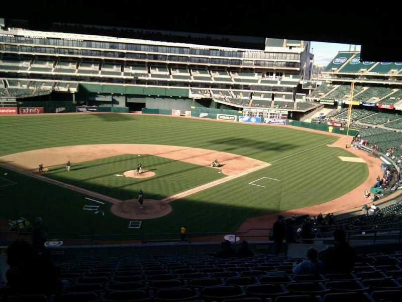 Seating view for Oakland Alameda Coliseum Section 217 Row 17 Seat 10