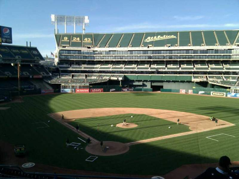 Seating view for Oakland Alameda Coliseum Section 216 Row 6 Seat 12