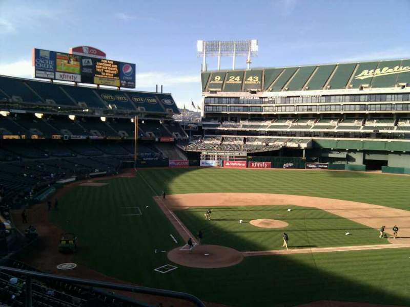 Seating view for Oakland Alameda Coliseum Section 215 Row 3 Seat 16