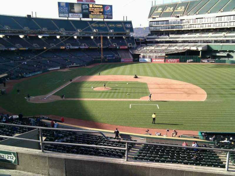 Seating view for Oakland Alameda Coliseum Section 212 Row 5 Seat 11