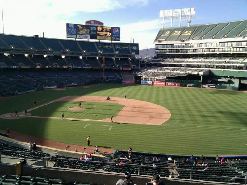 Seating view for Oakland Alameda Coliseum Section 211 Row 10 Seat 4