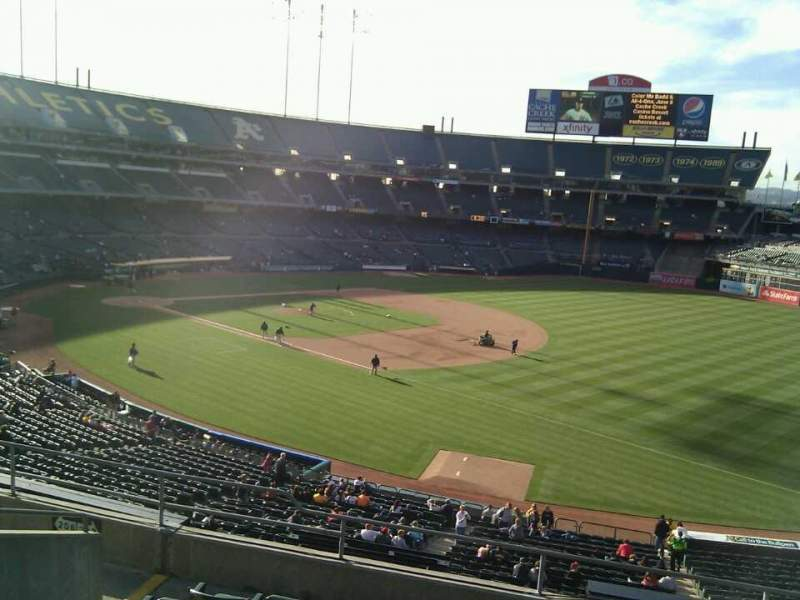 Seating view for Oakland Alameda Coliseum Section 207 Row 8 Seat 9