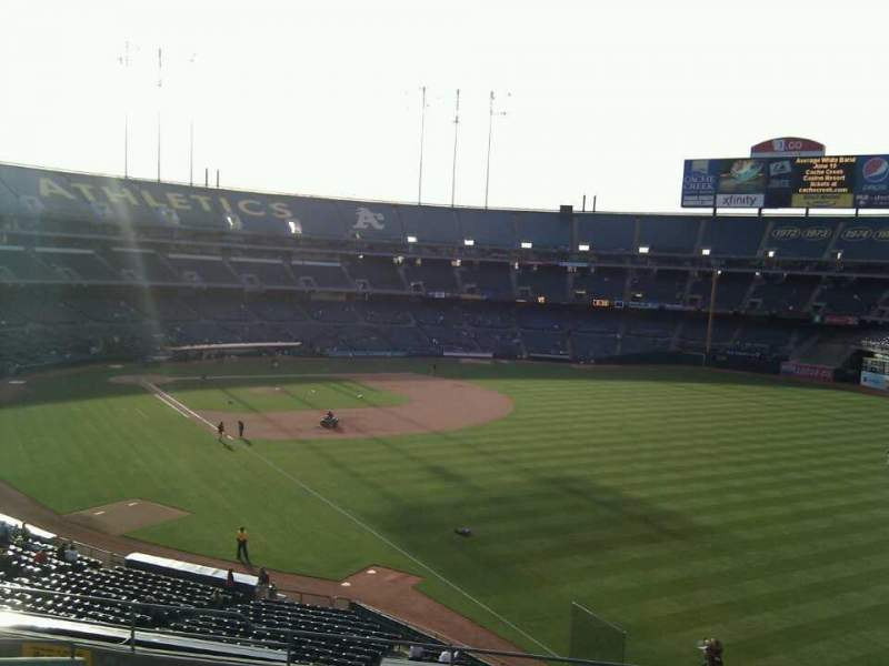 Seating view for Oakland Alameda Coliseum Section 204 Row 11 Seat 7