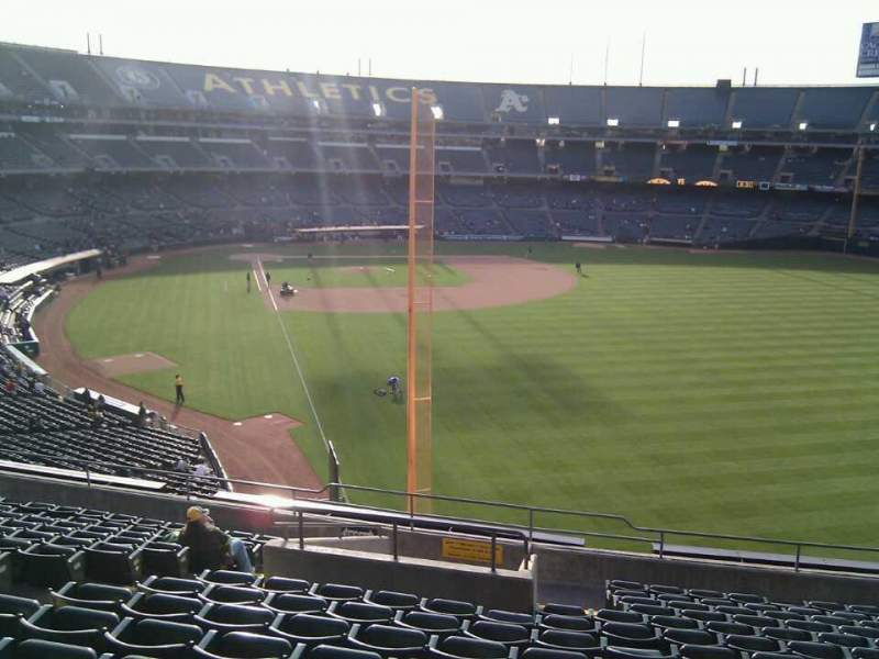 Seating view for Oakland Alameda Coliseum Section 202 Row 14 Seat 16