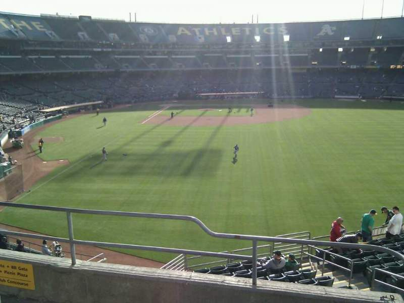 Seating view for Oakland Alameda Coliseum Section 200 Row 4 Seat 2