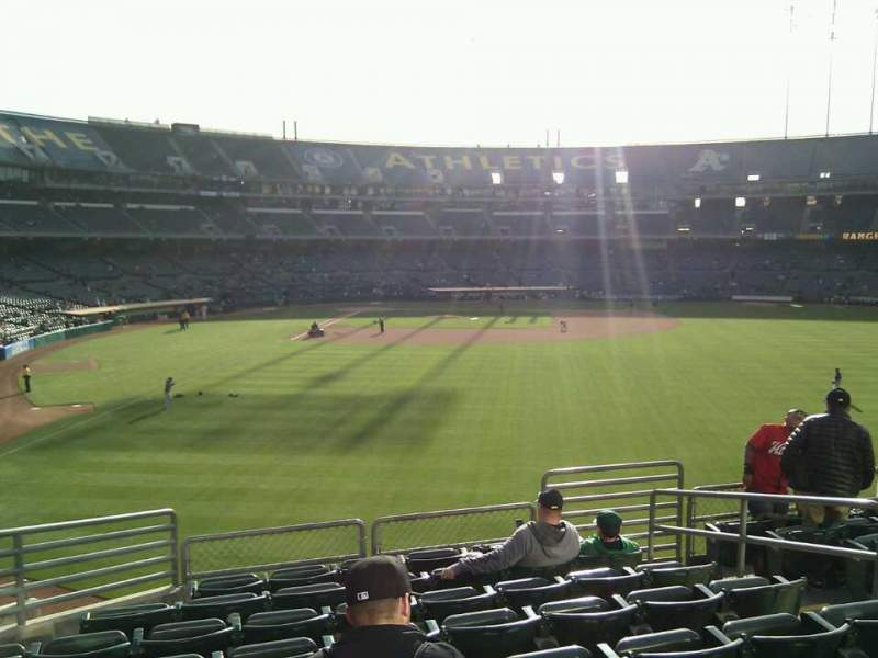 Seating view for Oakland Alameda Coliseum Section 150 Row 35 Seat 7