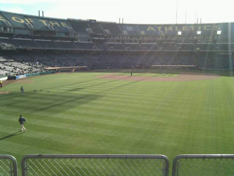Seating view for Oakland Alameda Coliseum Section 148 Row 30 Seat 10