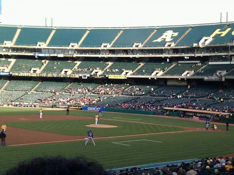 Seating view for Oakland Alameda Coliseum Section 126 Row 27 Seat 8