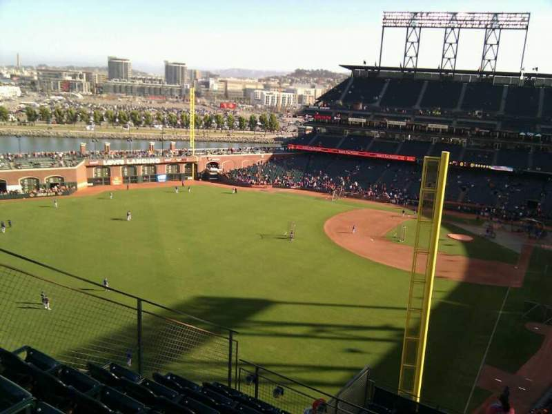Seating view for AT&T Park Section 336 Row 8 Seat 4