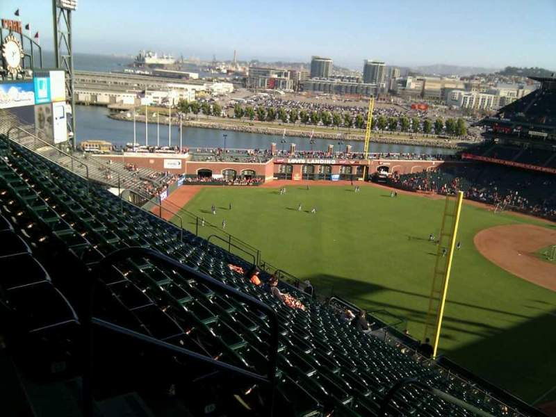 Seating view for AT&T Park Section 334 Row 18 Seat 25
