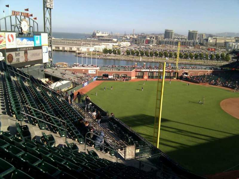 Seating view for AT&T Park Section 333 Row 11 Seat 1