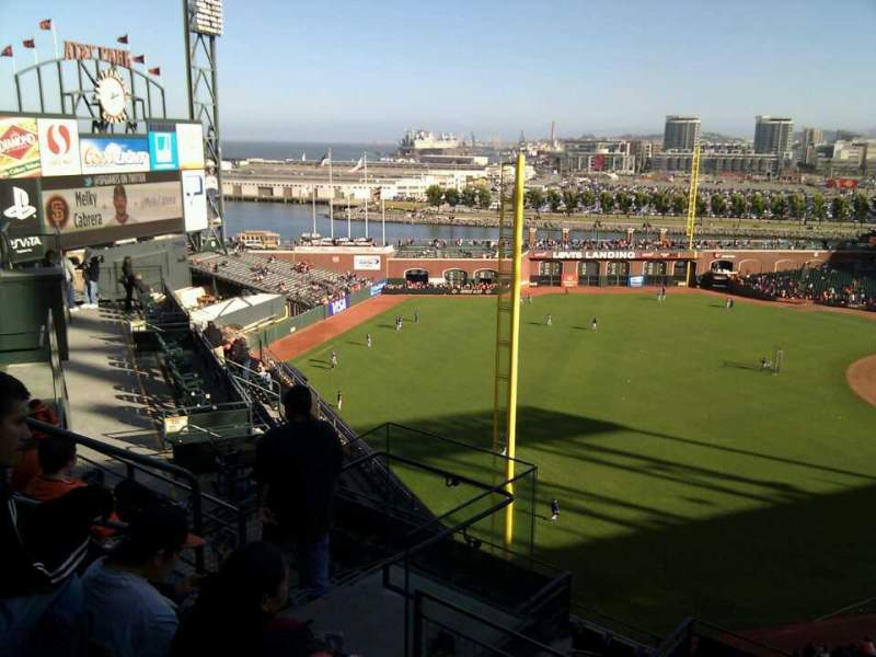 Seating view for AT&T Park Section 333 Row 4 Seat 10