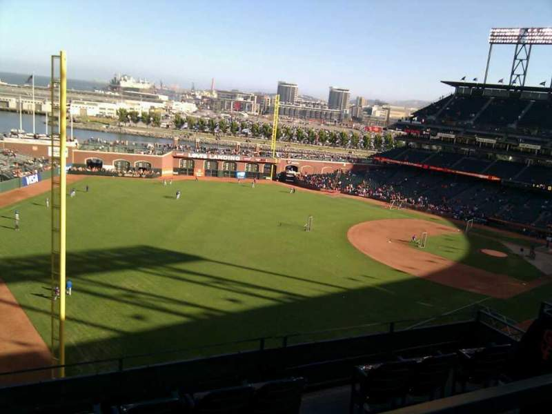 Seating view for AT&T Park Section 332 Row 1 Seat 12