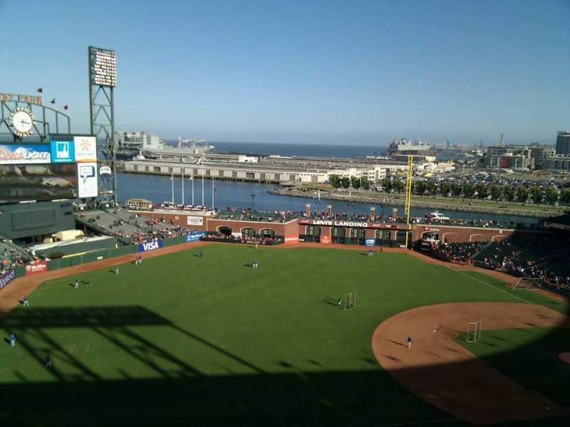 Seating view for AT&T Park Section 327 Row 9 Seat 21