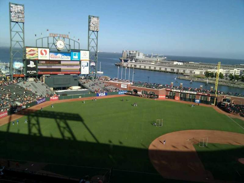 Seating view for AT&T Park Section 325 Row 9 Seat 4