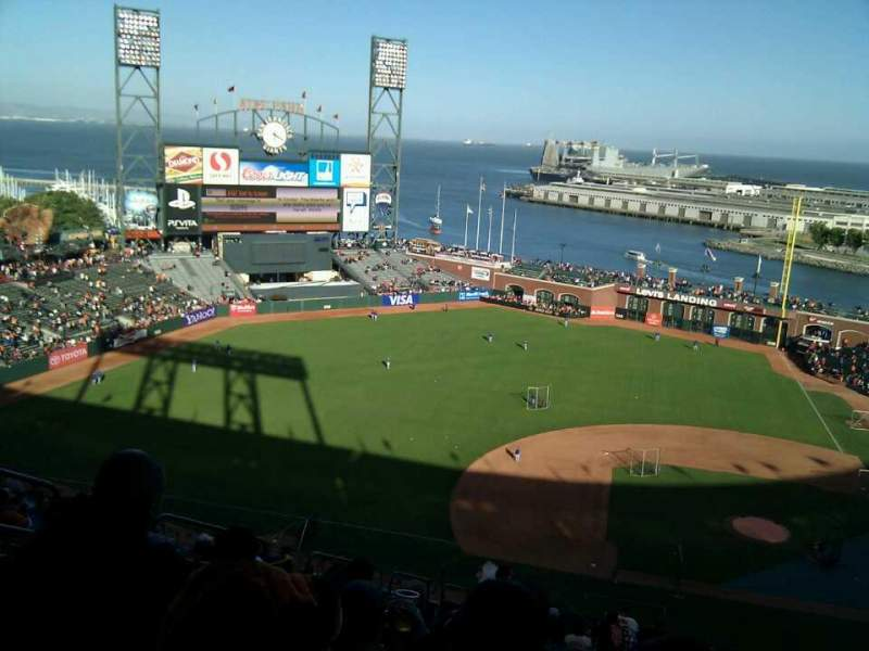 Seating view for AT&T Park Section 323 Row 18 Seat 19