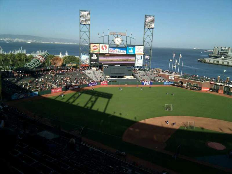 Seating view for AT&T Park Section 321 Row 8 Seat 2