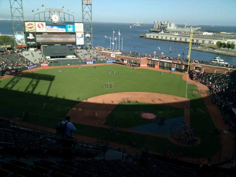Seating view for AT&T Park Section 320 Row 12 Seat 17